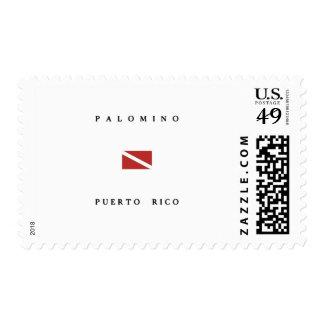 Palomino Puerto Rico Scuba Dive Flag Postage Stamp