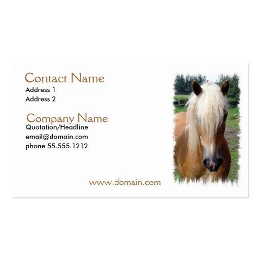 Palomino Quarter Horse Business Card