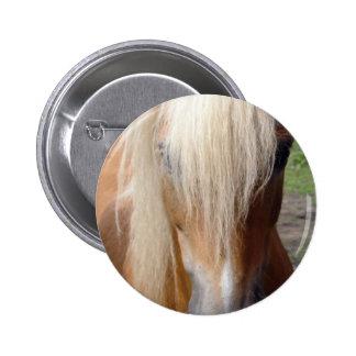 Palomino Quarter Horse Round Button