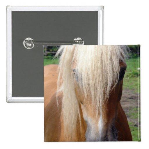 Palomino Quarter Horse Square Pin