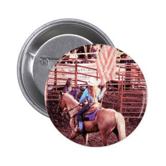 Palomino Rodeo American Flag Horse Pins