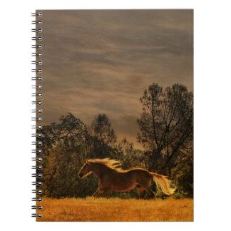 Palomino Running Horse Notebook