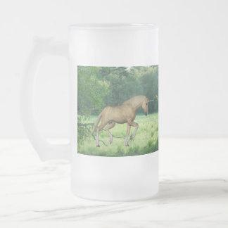 Palomino Unicorn 16 Oz Frosted Glass Beer Mug