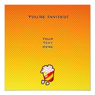 "Palomitas amarillo-naranja invitación 5.25"" x 5.25"""