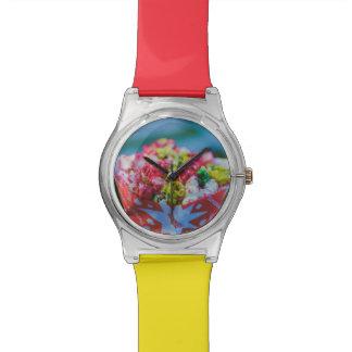 Palomitas condimentadas coloridas relojes de pulsera