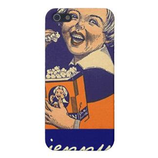 Palomitas de la etiqueta de la publicidad del iPhone 5 fundas