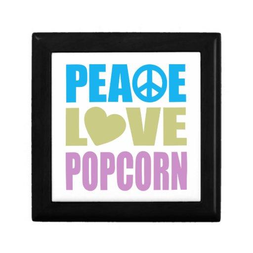 Palomitas del amor de la paz cajas de regalo