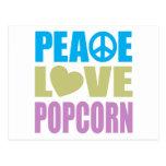 Palomitas del amor de la paz postales