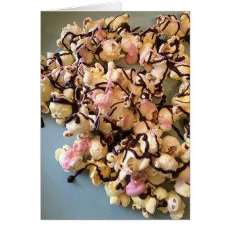 Palomitas del caramelo felicitacion