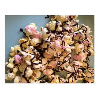 Palomitas del caramelo tarjeta postal