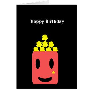 Palomitas del cumpleaños tarjeta de felicitación