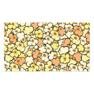 Palomitas del dibujo animado tarjetas de visita