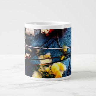 Palomitas en la taza de café enorme de la nieve #1 taza grande