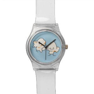Palomitas felices reloj