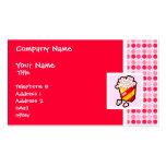 Palomitas lindas tarjetas de visita