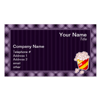 Palomitas púrpuras tarjetas de visita