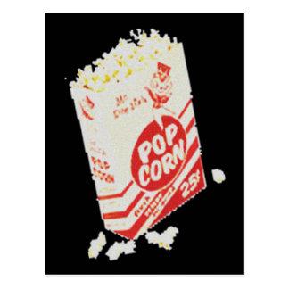 Palomitas retras del cine del vintage postal