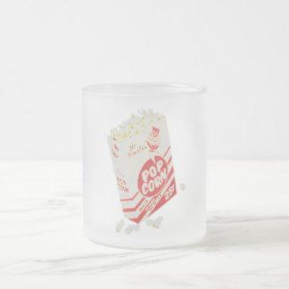 Palomitas retras del cine del vintage taza cristal mate