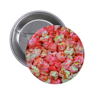 Palomitas rosadas pin redondo de 2 pulgadas