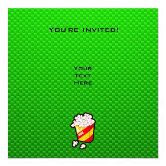 """Palomitas verdes invitación 5.25"""" x 5.25"""""""