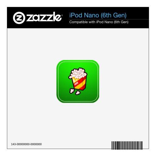 Palomitas verdes skin para el iPod nano 6G