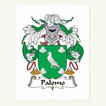 Palomo Family Crest Postcard