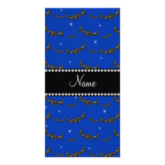 Palos azules conocidos personalizados del brillo tarjetas fotográficas personalizadas