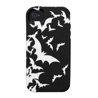 Palos blancos en negro iPhone 4/4S carcasa