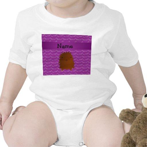 Palos conocidos personalizados de la púrpura de Bi Trajes De Bebé