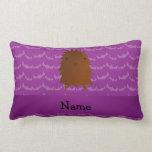 Palos conocidos personalizados de la púrpura de almohada