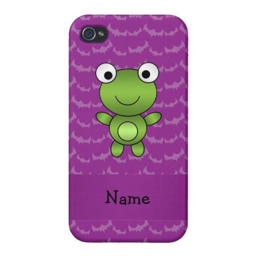 Palos conocidos personalizados de la púrpura de la iPhone 4 cobertura