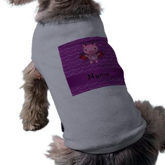 Palos conocidos personalizados de la púrpura del c camisetas de perro