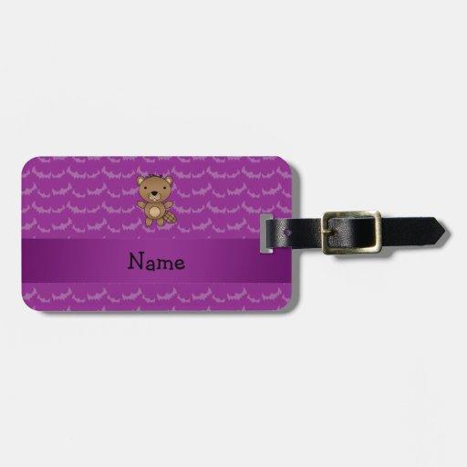 Palos conocidos personalizados de la púrpura del etiquetas maletas