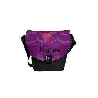 Palos conocidos personalizados de la púrpura del g bolsa de mensajería