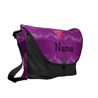 Palos conocidos personalizados de la púrpura del g bolsas de mensajeria