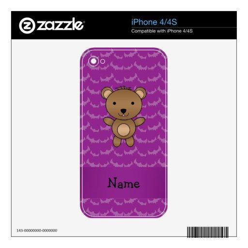 Palos conocidos personalizados de la púrpura del o iPhone 4S calcomanía