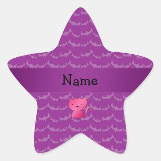 Palos conocidos personalizados de la púrpura del pegatina en forma de estrella