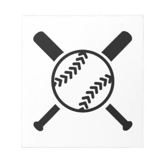 Palos cruzados softball bloc de notas