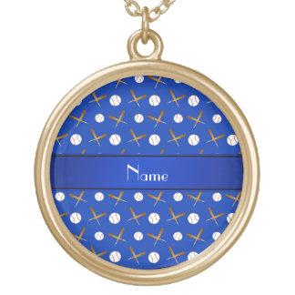Palos de béisboles azules conocidos personalizados grimpola