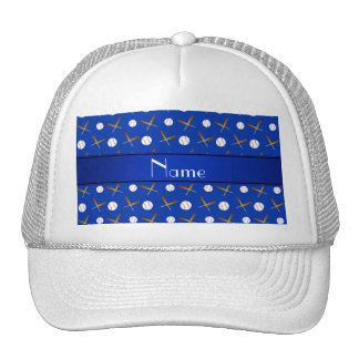 Palos de béisboles azules conocidos personalizados gorros bordados