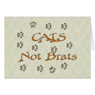 Palos de golf de los gatos no tarjeta de felicitación