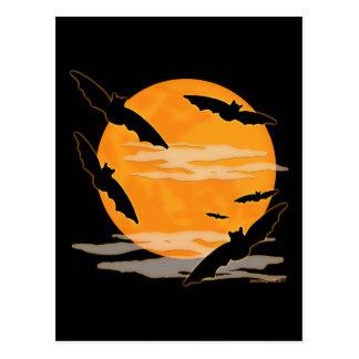 Palos de Halloween de la Luna Llena Postal