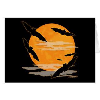 Palos de Halloween de la Luna Llena Tarjeta Pequeña