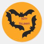 Palos de Halloween Etiquetas Redondas