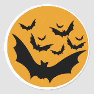 Palos de Halloween Pegatina Redonda