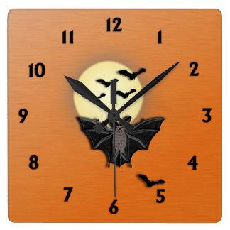 Palos de Halloween Reloj Cuadrado
