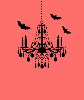 Palos de Halloween y camiseta de la lámpara