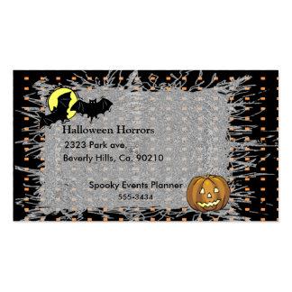 Palos de Halloween y sistema de la calabaza Tarjetas De Visita