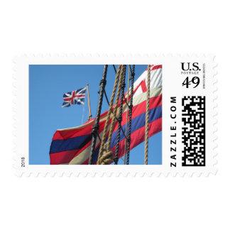 Palos de la nave en Jamestowne histórico Sello