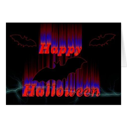 Palos del feliz Halloween Tarjeta De Felicitación
